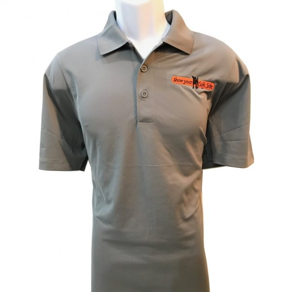 SYSS grey mens polo